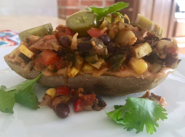 Caliente Smothered Baked Potato