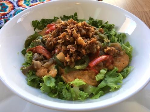 Lentils Taco Salad