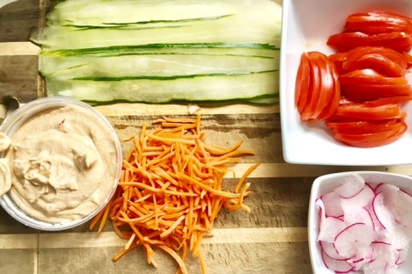 Humus Cucumber Roll-ups ingredients