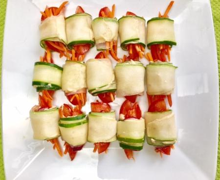 Humus Cucumber Roll-ups!