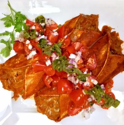 Refried Beans & Cabbage Enchiladas!